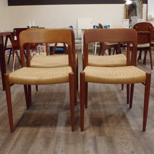 Niels Moller Model 75 Dining Chairs - Vintage Home Boutique - 4