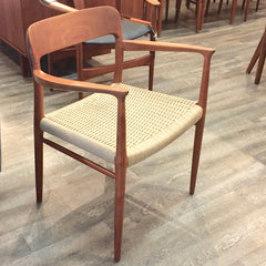 Niels Moller Model 56 Armchair in Teak with Danish Papercord Seating