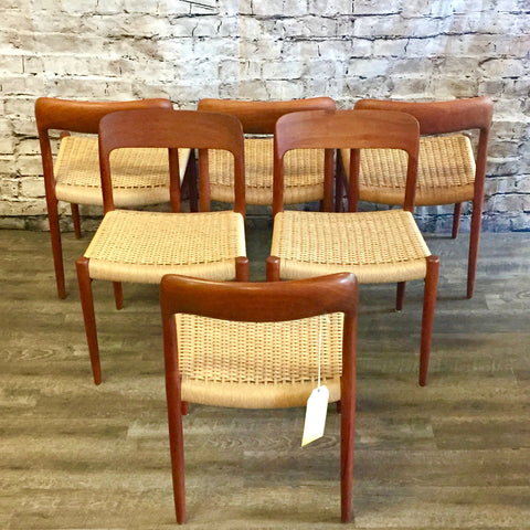 Niels Moller Model 75 Dining Chairs