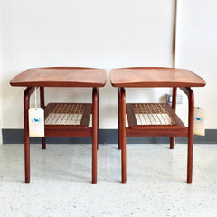 Pair Of Danish Mid-Century Teak Side Tables By Arne Hovmand-Olsen