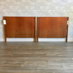 Pair Of Mid-Century Teak Twin Headboards By Poul Hundevad Co.