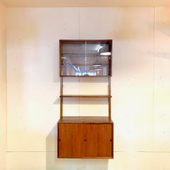 Mid-Century Teak Single Section Wall Unit By Poul Cadovius