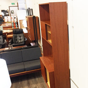 Mid Century Teak Free Standing Wall Unit By Poul Cadovius - Vintage Home Boutique - 5