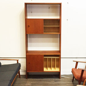 Mid Century Teak Free Standing Wall Unit By Poul Cadovius - Vintage Home Boutique - 3
