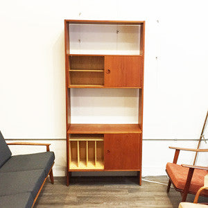 Mid Century Teak Free Standing Wall Unit By Poul Cadovius - Vintage Home Boutique - 2