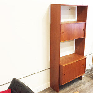 Mid Century Teak Free Standing Wall Unit By Poul Cadovius - Vintage Home Boutique - 4
