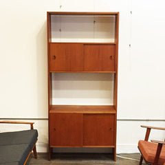 Mid Century Teak Free Standing Wall Unit By Poul Cadovius - Vintage Home Boutique - 1