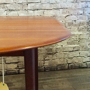 Mid-Century Teak and Rosewood Dining Table by R Huber