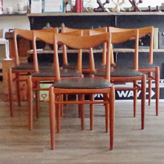 Mid-Century Modern Teak Dining Chairs by Rastad & Relling