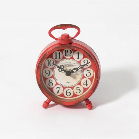 Antiqued Finish Table Clock - Vintage Home Boutique - 3