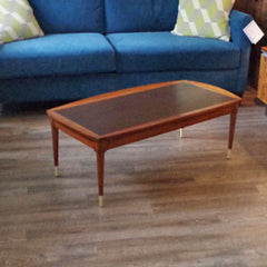 Refinished Mid Century Walnut Coffee Table - Vintage Home Boutique - 1
