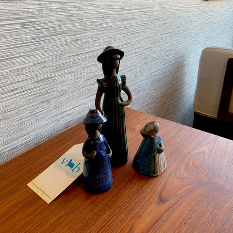 Set Of 3 Swedish Mid-Century Pottery Figures By Jie Verkstad
