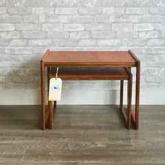 Set Of 2 Mid-Century Teak Nesting Tables By Punch Designs