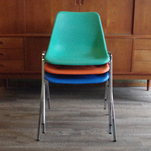 Shell Chair with Chrome Legs - Vintage Home Boutique - 5