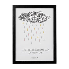 Let Your Smile Be Your Umbrella Framed Print - Vintage Home Boutique