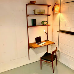 Single Section Wall Unit With Shelves And Desk By Kai Kristiansen
