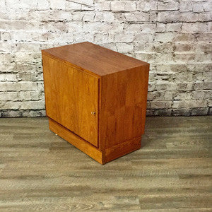 Small Danish Rosewood Media or Bar Cabinet By Poul Hundevad Co.