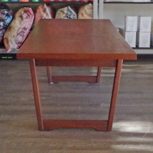 Mid Century Solid Teak Coffee Table - Vintage Home Boutique - 2