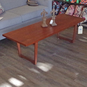 Mid Century Solid Teak Coffee Table - Vintage Home Boutique - 3