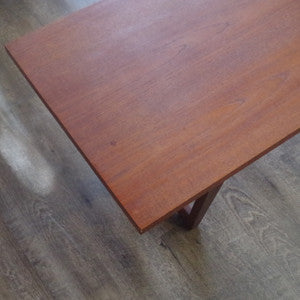 Mid Century Solid Teak Coffee Table - Vintage Home Boutique - 4