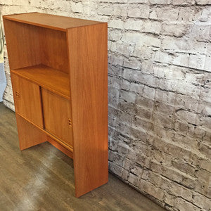 Compact Mid Century Teak Open Bottom Bookshelf - Vintage Home Boutique - 2