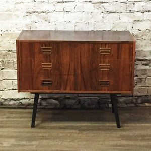 Small Danish Mid Century Rosewood 6 Drawer Cabinet - Vintage Home Boutique - 1