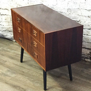 Small Danish Mid Century Rosewood 6 Drawer Cabinet - Vintage Home Boutique - 2