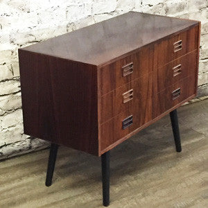 Small Danish Mid Century Rosewood 6 Drawer Cabinet - Vintage Home Boutique - 3