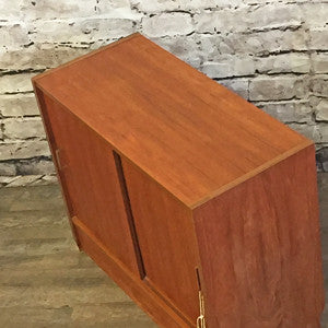 Small Teak Storage or Media Cabinet