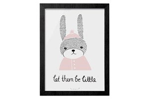 Let Them Be Little Rabbit Framed Hanging Print - Vintage Home Boutique