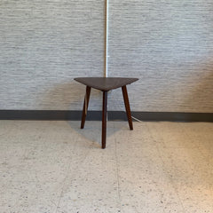 Solid African Teak Mid-Century Guitar Pick Side Table By Imperial