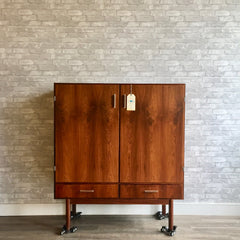 Tall Danish Modern Rosewood Bar And Cabinet By Axel Christensen Odder