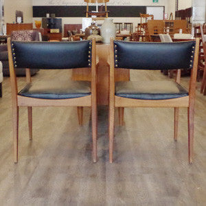 Mid Century Teak Arm Chairs - Vintage Home Boutique - 4