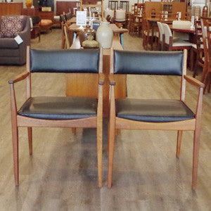Mid Century Teak Arm Chairs - Vintage Home Boutique - 2