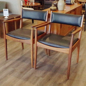 Mid Century Teak Arm Chairs - Vintage Home Boutique - 3