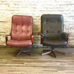 Westnofa Mid-Century Swivel Bentwood Lounge or Office Chairs