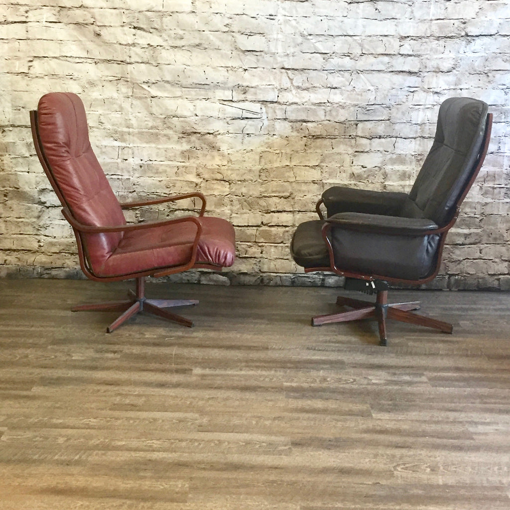 Bentwood lounge chair - Westnofa Mid Century Swivel Bentwood Lounge Or Office Chairs