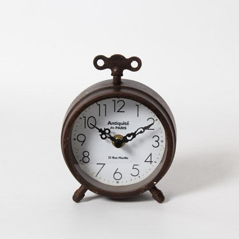 Antiqued Finish Table Clock - Vintage Home Boutique - 4