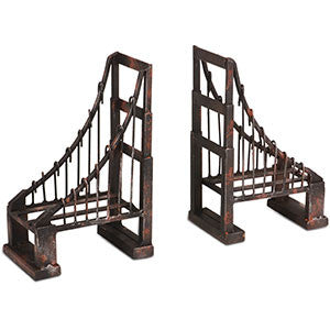 Distressed Wrought Metal Bridge Bookends - Vintage Home Boutique