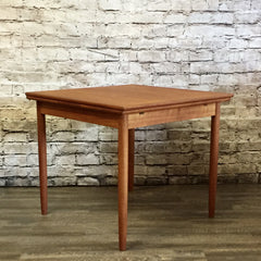 Mid-Century Danish Teak Compact Dining Table by Poul Hundevad Co
