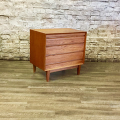 Low Mid-Century Oak 4 Drawer Dresser or TV Stand