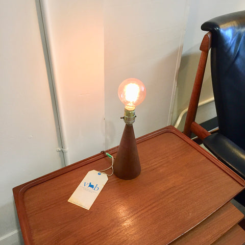 Mid Century Solid Teak Table Lamps By Dansk