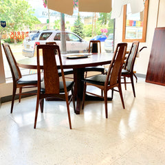 Large Danish Modern Extending Dining Table By Dyrlund In Brazilian Rosewood