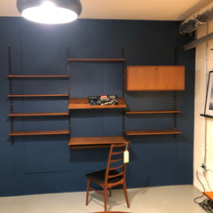 Mid-Century Teak 3 Section Wall Unit By Kai Kristiansen For Feldballes Mobelfabrik