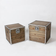 Rustic Barn Wood Storage Trunks - Vintage Home Boutique - 1