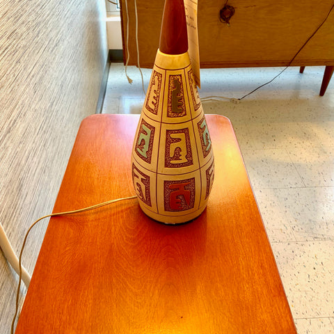 Large Danish Modern Ceramic Table Lamp