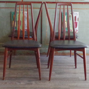 Niels Koefoed Eva Dining Chairs - Vintage Home Boutique - 6