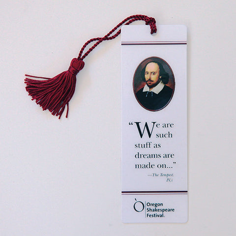 "OSF Logo Bookmark - ""We are such stuff as dreams..."""