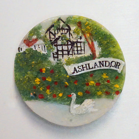 Sculpted Ashland Swan Magnet