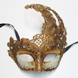 Fancy Lace Mask Gold